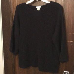 Basic HM dark navy cotton/acrylic sweater NWT